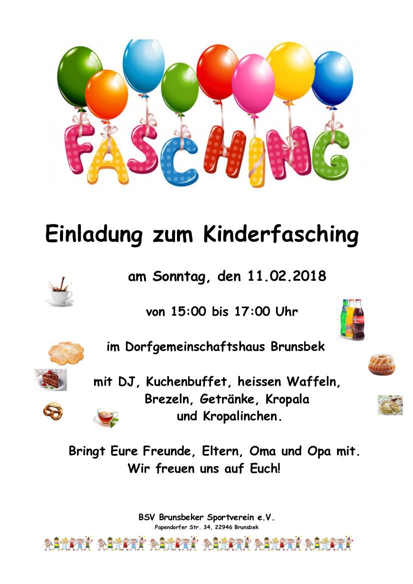 Fasching Einl 2018